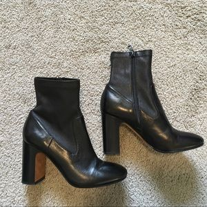 Vince heeled leather booties